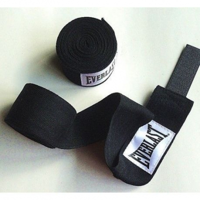 Бинты боксерские Everlast 2,7м (черные)