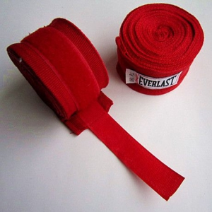 Бинты боксерские Everlast 2,7м (красные)