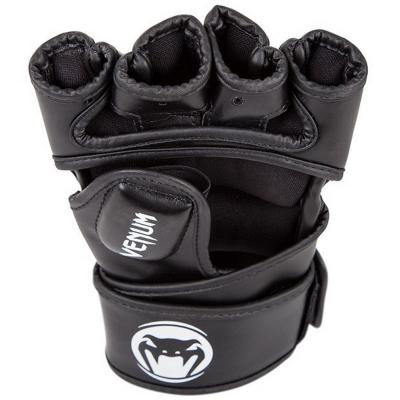 Перчатки для ММА Venum Impact-Black-Skintex Leather