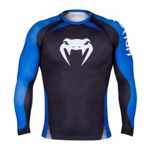 Рашгард Venum NO GI Long Sleeve - Black/Blue