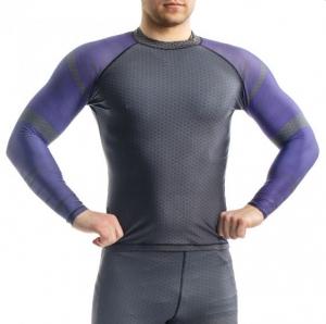 Рашгард ORSO Bandage синий - длинный рукав